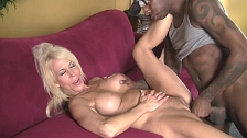 Blonde Bitch Banged By Black Dude